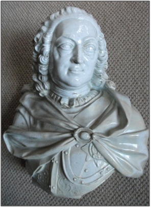 George II porcelain bust (and socle)